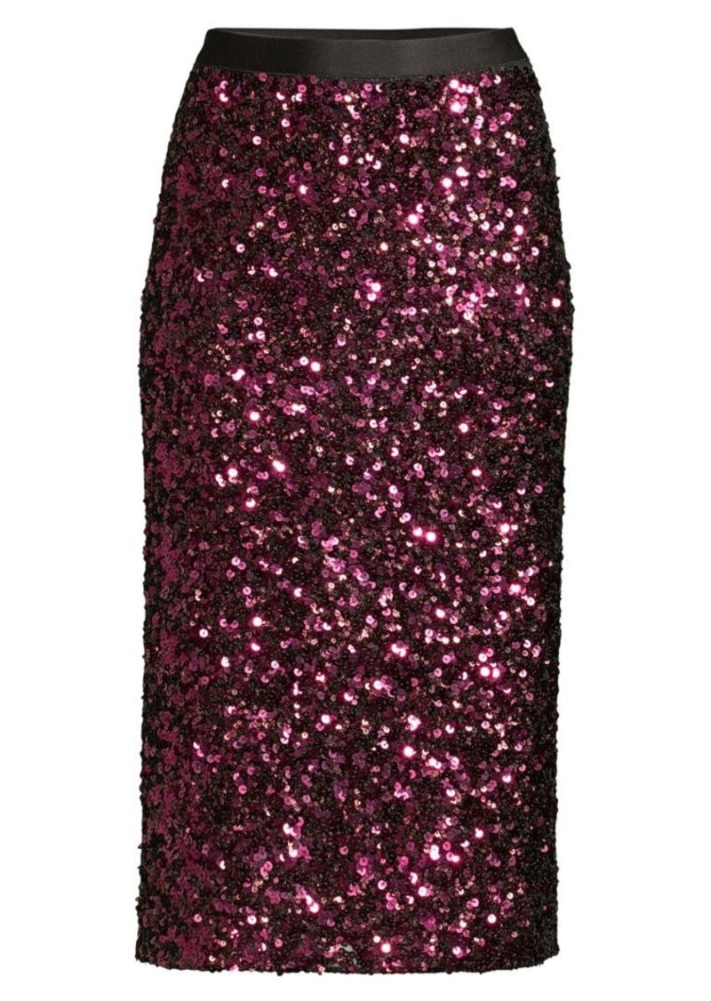 Rebecca Taylor Sequin Stretch Pencil Skirt