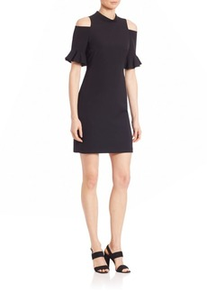 Rebecca Taylor Short Sleeve Cold Shoulder Dress