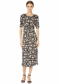 Rebecca Taylor Short Sleeve Kaleidoscope Jersey Dress