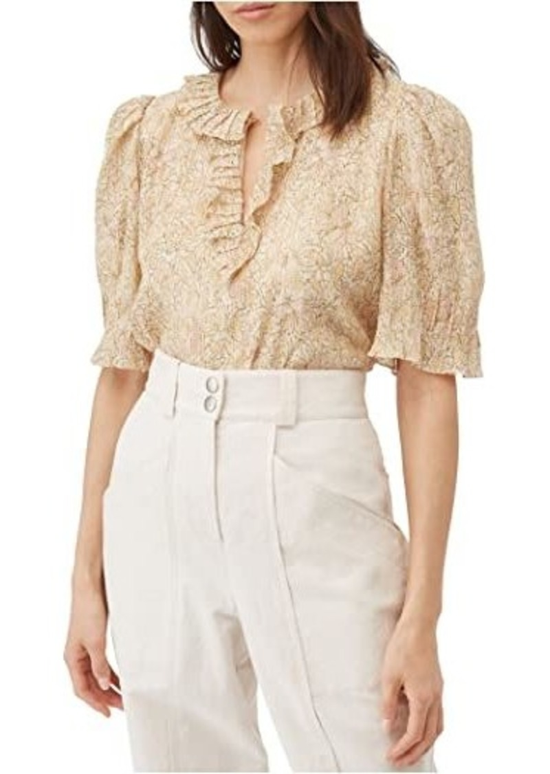 Rebecca Taylor Short Sleeve Soleil Floral Top