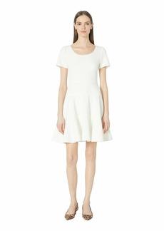 Rebecca Taylor Short Sleeve Stretch Texture Dress