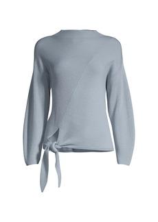 Rebecca Taylor Side-Tie Wool-Blend Sweater