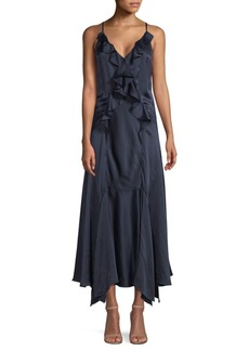 Rebecca Taylor Silk Ruffle Dress