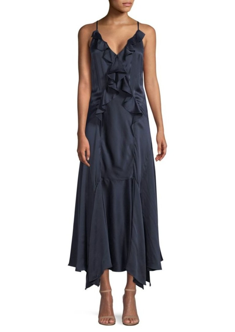 Rebecca Taylor Silk Ruffle Dress
