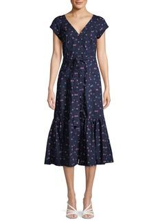 Rebecca Taylor SL Farren Floral V-Neck Dress