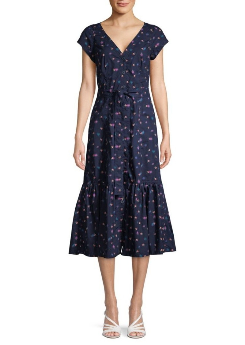 Rebecca Taylor SL Farren Floral V-Neck Dress