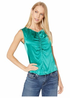 Rebecca Taylor Sleeveless Charmeuse Top