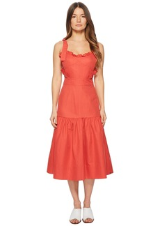 Rebecca Taylor Sleeveless Cotton Midi Dress
