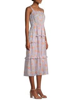 Rebecca Taylor Emilia Silk Midi Dress