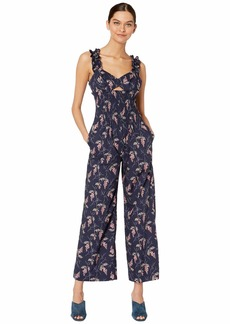 Rebecca Taylor Sleeveless Ivie Floral Jumpsuit