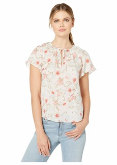 Rebecca Taylor Sleeveless Kamea Floral Top