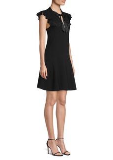 Rebecca Taylor Sleeveless Lace Bow-Tie Dress
