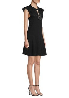Rebecca Taylor Sleeveless Lace Bow-Tie Dress