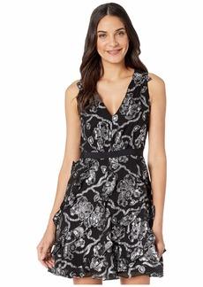 Rebecca Taylor Sleeveless Lurex Clip Dress