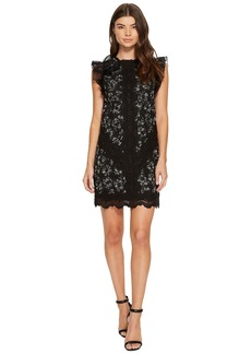Rebecca Taylor Sleeveless Moonflower Embroidered Dress