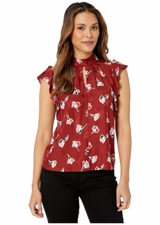Rebecca Taylor Sleeveless Paintbrush Top