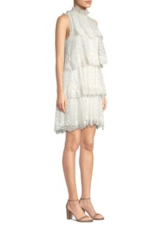 Rebecca Taylor Sleeveless Pinwheel Shift Dress