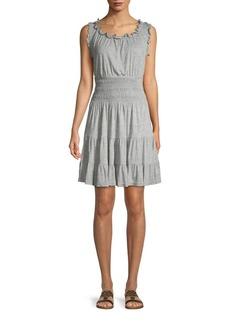 Rebecca Taylor Sleeveless Ruffle Dress