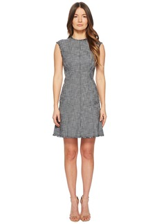 Rebecca Taylor Sleeveless Slub Suiting Dress