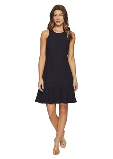 Rebecca Taylor Sleeveless Stretch Texture Ruffle Dress