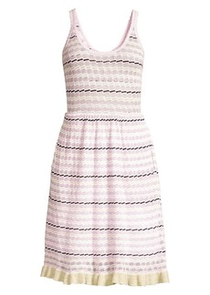 Rebecca Taylor Sleeveless Stripe Pointelle Dress