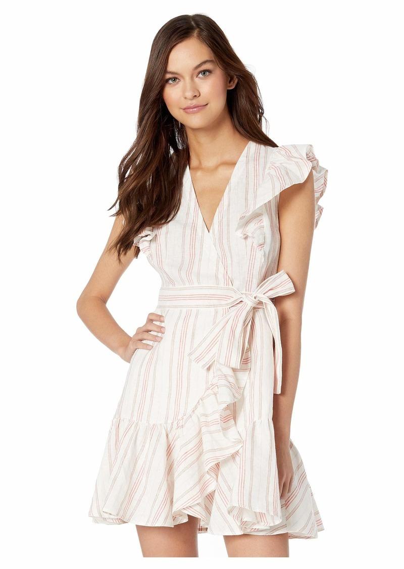 Rebecca Taylor Sleeveless Stripe Wrap Dress