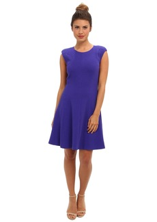 Rebecca Taylor Sleeveless Text Ponte Dress