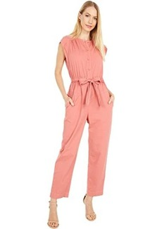 Rebecca Taylor Sleeveless Twill Jumpsuit