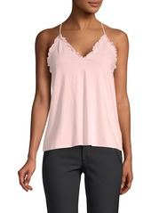 Rebecca Taylor Sleeveless Vintage Cotton Jersey Top