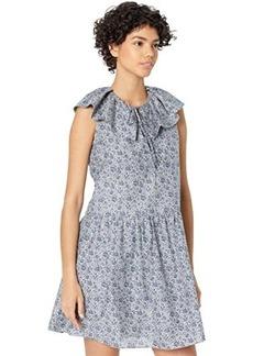 Rebecca Taylor Sleevelesss Vine Print Dress