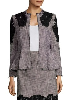 Rebecca Taylor Slub Lace Inset Jacket