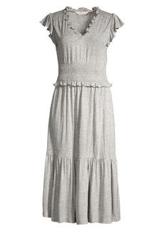 Rebecca Taylor Smocked Jersey Midi Dress