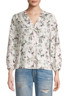 Rebecca Taylor Sofia Long-Sleeve Silk Top