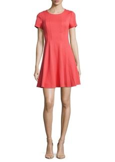 Rebecca Taylor Solid Fit-&-Flare Dress
