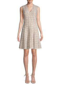 Rebecca Taylor Sparkle Tweed A-line Dress