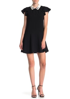 Rebecca Taylor Sparrow Embroidered Collared Dress