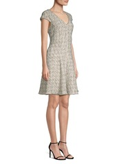Rebecca Taylor Speckle Tweed Flare Dress