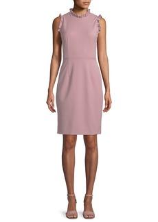 Rebecca Taylor Spring Ruffle Sleeveless Sheath Dress