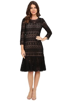 Rebecca Taylor Stained Glass Lace Long Sleeve Dress