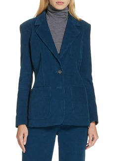 Rebecca Taylor Stretch Cotton Corduroy Jacket