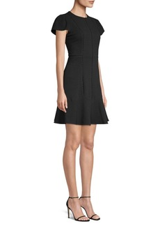 Rebecca Taylor Stretch Texture A-Line Dress