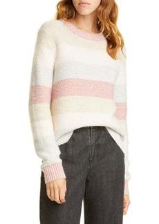 Rebecca Taylor Stripe Merino Wool Blend Sweater