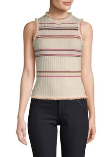 Rebecca Taylor Striped Knit Tank Top
