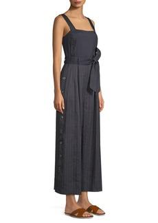Rebecca Taylor Striped Linen Jumpsuit