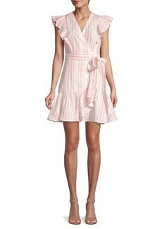 Rebecca Taylor Striped Wrap Dress