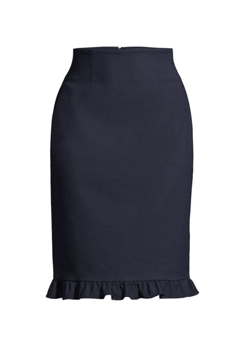 Rebecca Taylor Suiting Ruffle Skirt
