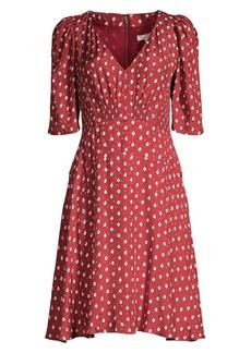 Rebecca Taylor Sunrise Dot Stretch-Silk Dress