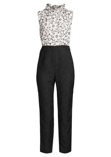 Rebecca Taylor Tai Floral Embroidered Jumpsuit