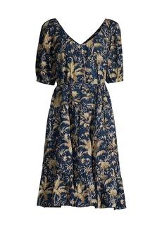 Rebecca Taylor Talita Short-Sleeve Dress