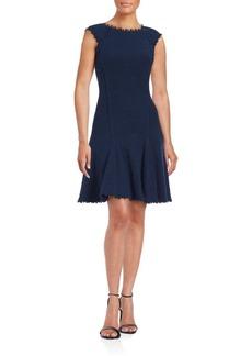 Rebecca Taylor Tassle Trim Textured Dress